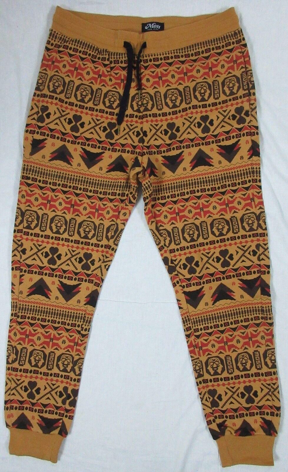 MOSS NEW YORK AZTEC PRINTED SWEAT PANTS MULTI SIZE 34, 36
