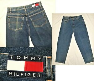 Details about Vtg Tommy Hilfiger Jeans Mens 34 X 30 Relaxed Logo Spell Out Heavy Denim