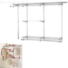 Rubbermaid Configurations Custom Closet Classic Kit Titanium 3 6 Foot  Organizer