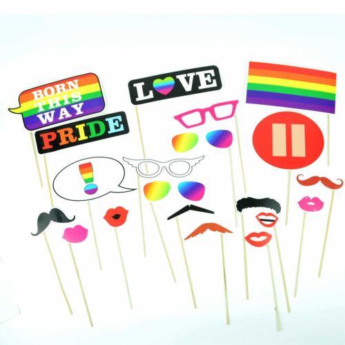 Gay Pride Parade Festival Photo Booth Props GLBT Wedding Party Games Selfie