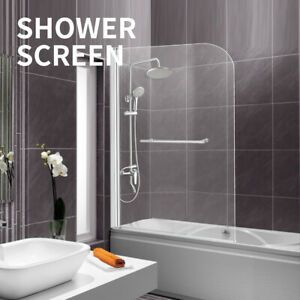 Levede-Shower-Screen-Bath-Screens-Glass-Door-Seal-Swing-Panel-Frameless-800mm