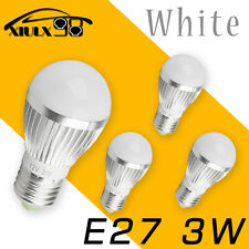 4x Ultra Bright Pure White 3W 12V E27 E26 Home LED RV Energy Saving Bulbs Light