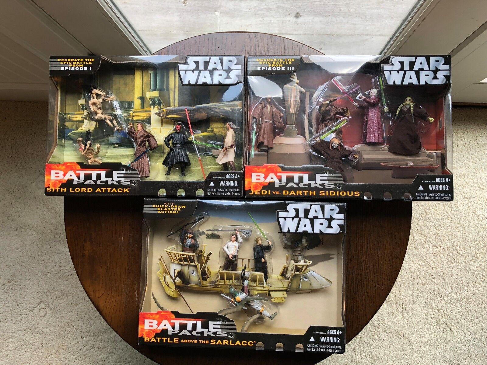 Hasbro Stern Wars kämpfen Verpackungs Complete Set of 3