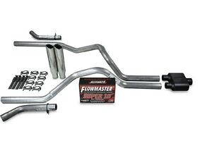 "Ford F150 98-03 3/"" Dual Exhaust Kit Flowmaster 50 Series Muffler"