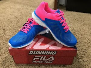 a3e2411c Details about FILA Memory Faction 2 Running Shoes Women's Sizes 6. Blue  Pink Memory Foam