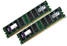 Kingston 2x 1gb 2gb RAM PC memoria DDR 400 MHz 64mx8 DIMM pc3200 marcas de almacenamiento