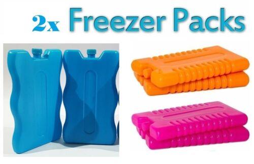 2 x New Reusable Freeze Box Ice Blocks Cooler Pack Camping Picnic Travel UK