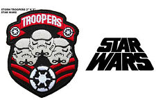 """Star Wars Storm Troopers 2"""" X 3"""" Embroidered Iron/ Sew-On Movie Patch US Seller"""