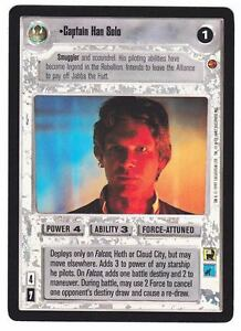 SWCCG Star Wars CCG • Captain Han Solo • CLOUD CITY BLACK BORDERED RARE NM
