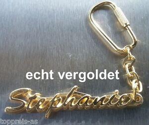 Edler SchlÜsselanhÄnger Stephane Vergoldet Gold Name Keyring Weihnachtsgeschenk Schlüsselanhänger Sonstige