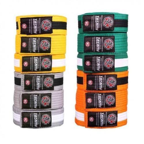 Details about  /Tatami Kids BJJ Belt Child Ranked JiuJitsu belt White Grey Yellow Green M0 M2 M4