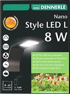 Dennerle Nano Style Led L 8w Aquarium Light Pour Réservoirs Haute Qualité Eu Fabriqué 4001615011333