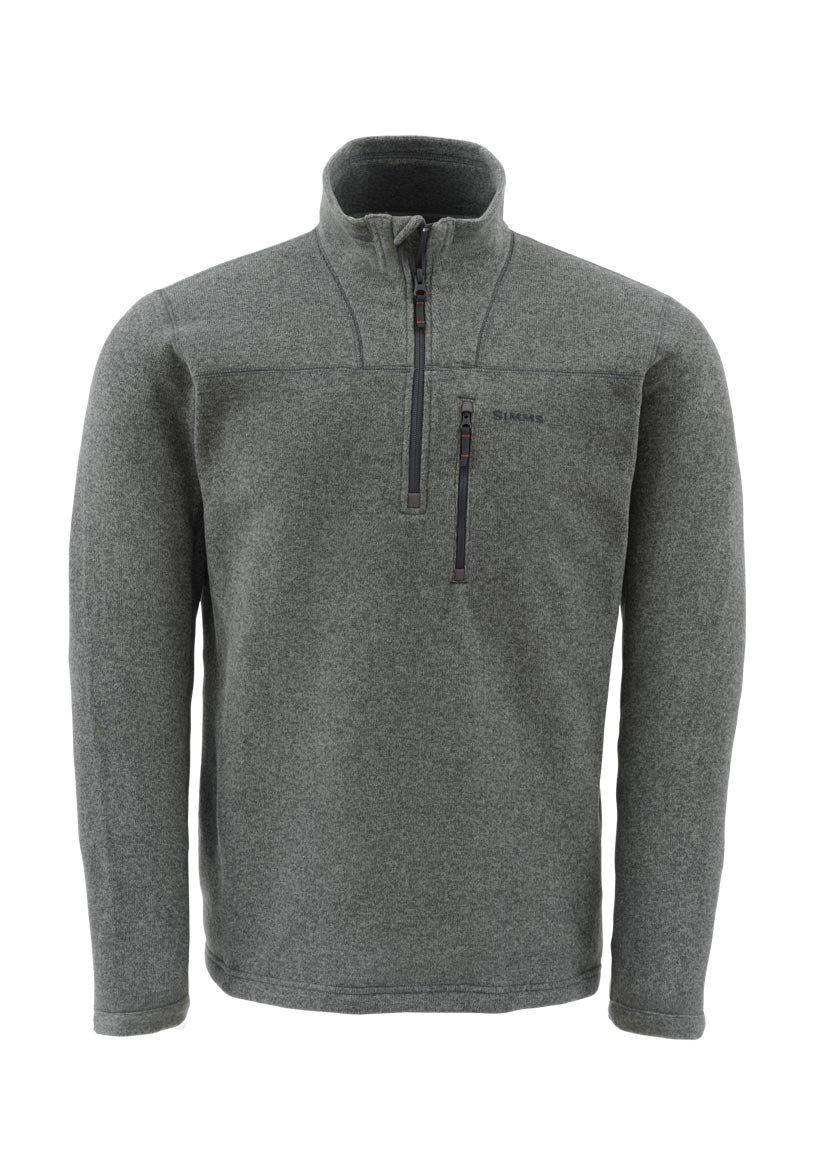 Simms Rivershed Sweater(Quarter Zip), M, Dark  Shadow, NWT's   quality first consumers first