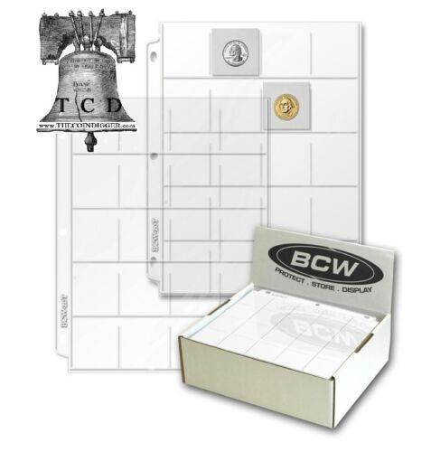 10 BCW 20 Pocket Page Heavy Duty Vinyl 2x2 Coin Holder Flip Pogs Holds 20 Flips