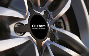 Alloy-Wheel-Centre-Cap-Badges-Set-BLACK-Fit-36mm-90mm-With-or-Without-Logo