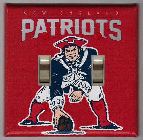 New England Patriots Retro Logo Double Light Switch Cover Plate