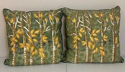 Pier 1 One Imports Throw Pillows Set Of 2 17 X 17 Green Yellow