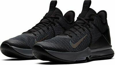 profundo boicotear Lago taupo  Nike Lebron Witness 4 IV Triple Black Grey Mens Basketball Shoes ...