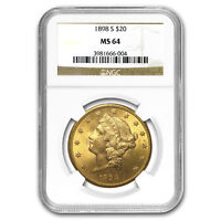 1898-S $20 Liberty Gold Double Eagle MS-64 NGC