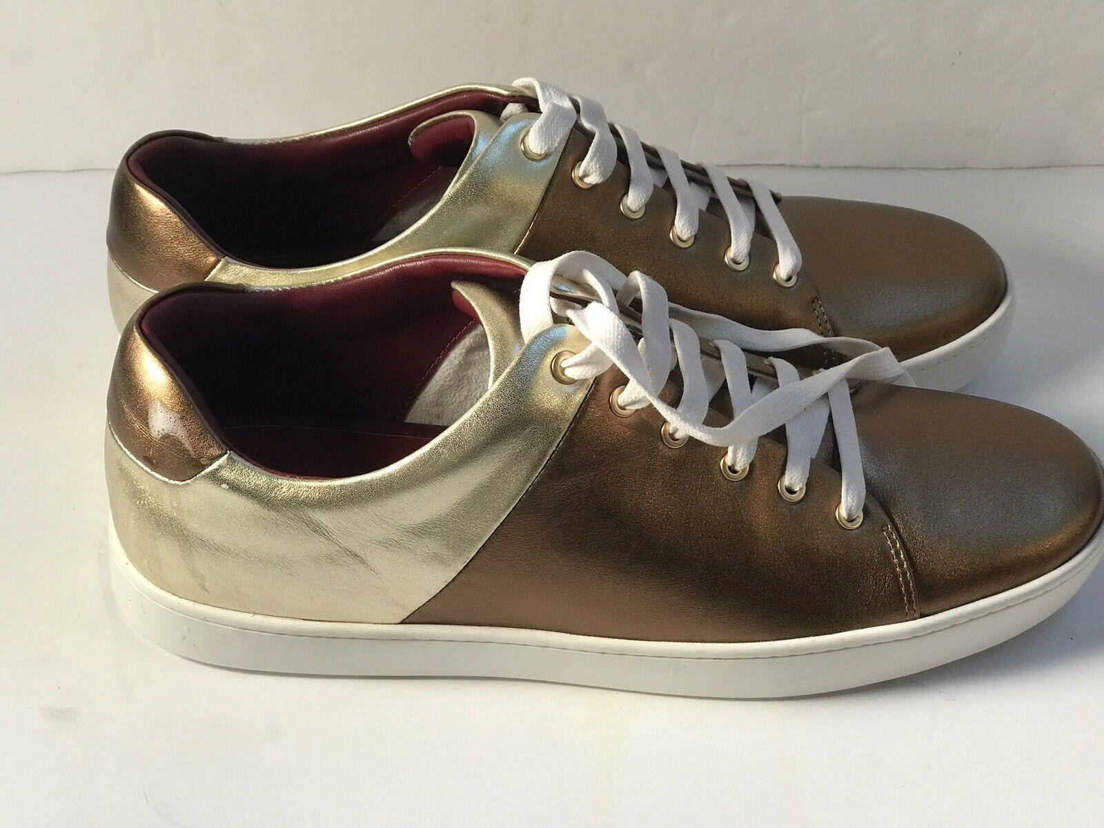 Mujeres Zapatos Tenis de presa nuevo zapatos oro Marrón Metálico Con Cordones
