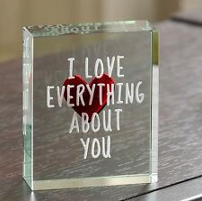 Spaceform I Love Everything About You Romantic Love gift Ideas for Her Him 1872