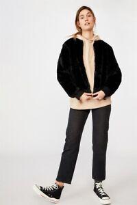 NRL Womens Fur Bomber Jacket Jackets  In  Rabbitohs