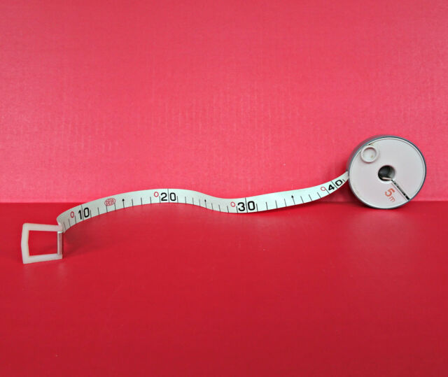 Vintage Brevete SGDG Measuring Tape Measure 5 m 16' Metric Wind Up Flexible Old