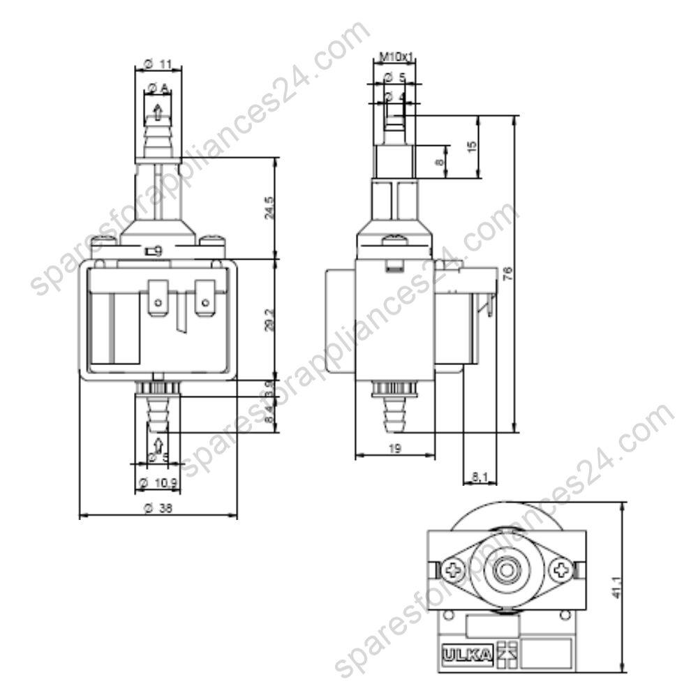 ulka nme3 micro pump 230  240v  16w  50hz coffee espresso