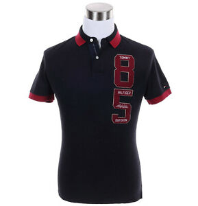 Tommy-Hilfiger-Men-Short-Sleeve-Logo-Custom-Fit-Pique-Polo-Shirt-Free-0-Ship