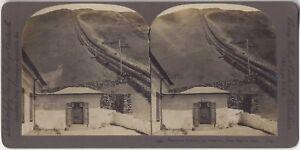 Funicolare Da Vesuvio Napoli Italia Foto Stereo Vintage