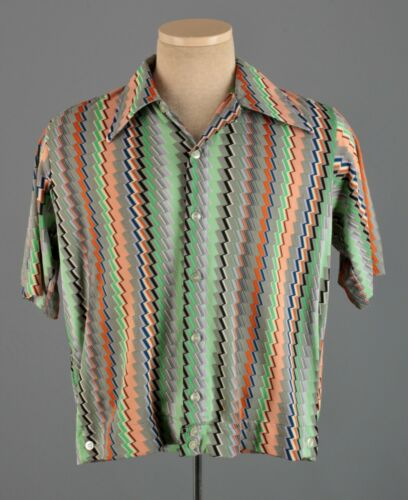 Men's 1960s Mr Leggs Fashion Knits Psychedelic Shi