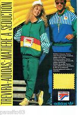 PUBLICITE ADVERTISING 086  1987  les survetements Trévira Adidias