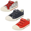 Garcons-de-Clarks-Halcy-Sky-Junior-Inf-Canvas-Riptape-Ruban-Baskets-Tennis