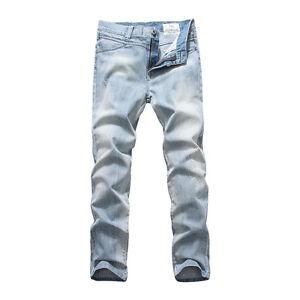 FOX JEANS Men s Lynn Slim Fit Straight Light Blue Denim Jeans Size ... 73a731ea4