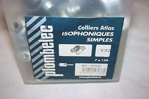 Alerte 50 Colliers Atlas Simple Isophonique Acier Zingué 7 X 150 Mm Ø 32 Mm Plombelec Utilisation Durable