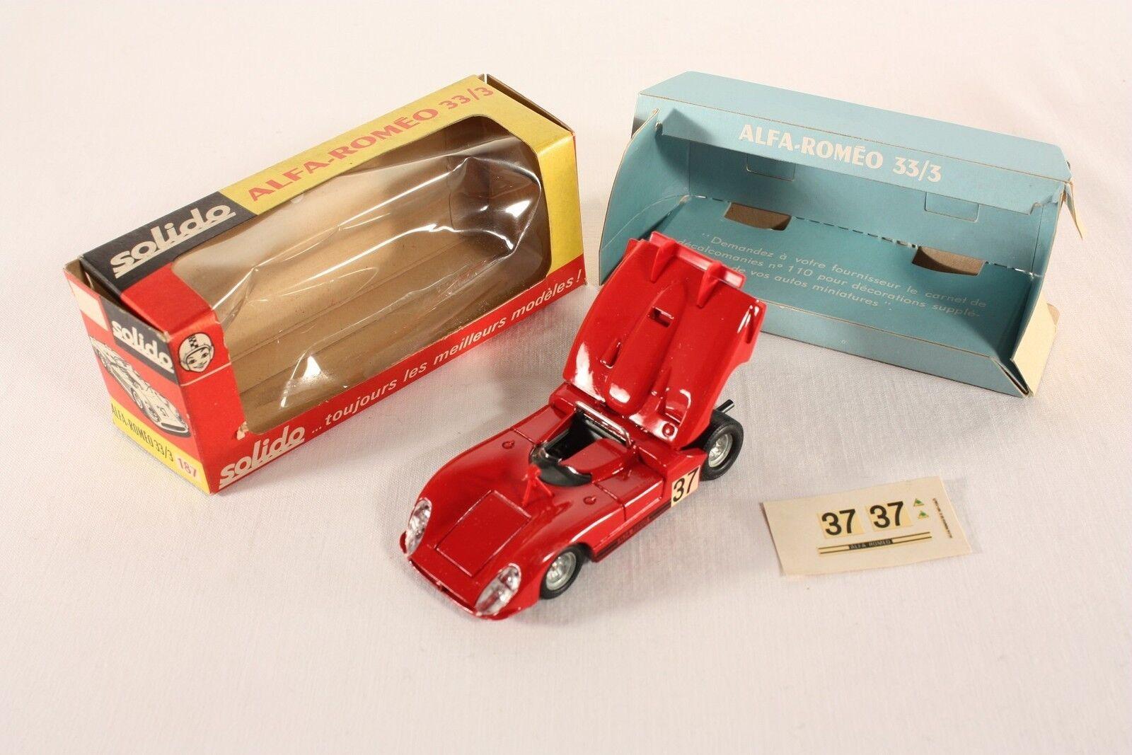 Solido 187, Alfa Romeo 33 3, Mint in Box                     ab816