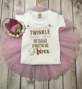 ee732f8a8 Image is loading Twinkle-twinkle-little-star-outfit-first-birthday-shirt-