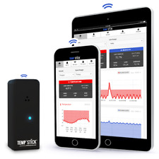 Temp Stick Wifi Temperature Amp Humidity Sensor 247 Monitoring Amp Alerts Black