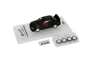 1-64-INNO64-Mitsubishi-Lancer-Evolution-III-GSR-Black-with-Spare-Wheels-amp-decals