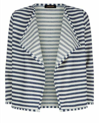 Jaeger Waterfall Textured Stripe Cardigan Size Small BNWT RRP £80 Blue//White