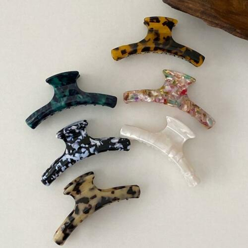 Details about  /Women Large Acetate Hair Claw Jaw Clips Marble Pattern Tortie Geometric Barrette