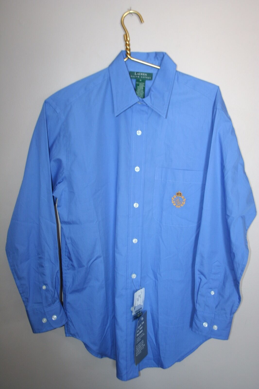 NWTWomen's Size 6SolidSky blueeClassicLong SleeveButton Front Dress Shirt