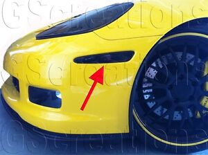 Details About C6 Corvette Front Smoked Side Marker Blackout Lights
