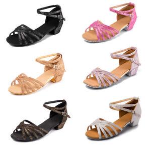 Ballroom-Brand-New-heeled-Salsa-tango-latin-dance-shoes-for-children-girl-women
