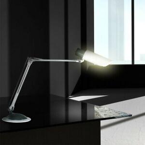 Schreib Tisch Leuchte silber Arbeits Zimmer Beleuchtung Flexo Lese Lampe schwarz