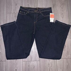 NEW-George-Women-039-s-Blue-Denim-Straight-Leg-Jeans-Size-6