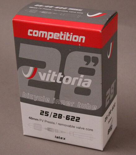 Vittoria Competition Latex Tube 700x25-28 48mm Presta Valve New in Box