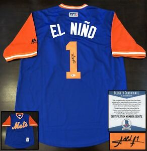 timeless design 3d927 7e84b Details about Amed Rosario Signed Jersey Nickname El Nino Beckett BAS COA