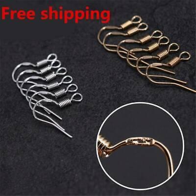 Wholesale DIY JEWELRY Making Findings 200PCS Earring Hook Coil Ear Wire