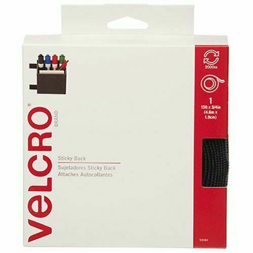 "VELCRO Brand 15/' x 3//4/"" Tape Navy Sticky Back"